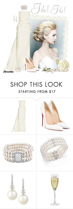 """nr 858 / She's a Happy Woman"" by kornitka ❤ liked on Polyvore featuring Lanvin, Christian Louboutin, Ice, Bloomingdale's and Belpearl"