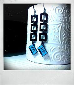 #SWAG: Mixed Tape 80's Inspired Earrings $10.00 Love 'em!