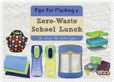 The amount of waste the typical school lunch creates is kinda shocking. Here's how I pack my kids zero waste school lunches and save money at the same time! Get ready for back to school with these frugal living, going green tips! (They're easy!)