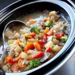 Slow Cooker Chicken Vegetable Soup - The Wilderness Wife
