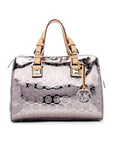 Nice fun summer bag.  MICHAEL Michael Kors  Medium Grayson Monogram Satchel
