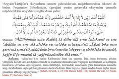Seyyidül istiğfar hadis islam