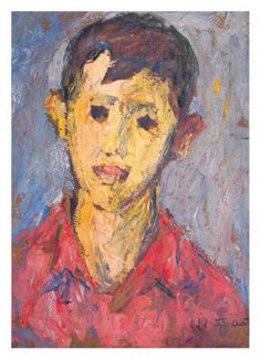 The Boy - Nutzi Acontz  (1894 - 1957) / romanian / Post-Impressionism