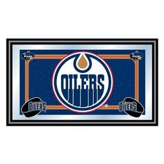 Trademark Global NHL Edmonton Oilers Framed Team Logo Mirror Sale at discount. Saving Sam, Nylon Carpet, Edmonton Oilers, Chicago Cubs Logo, True Colors, Nhl, Framed Prints, Mirror, Learning