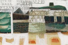 St Ives by Anne Davies Abstract Landscape, Landscape Paintings, Abstract Art, Landscapes, Anne Davies, Modern Art, Contemporary Art, Naive Art, Illustrations And Posters