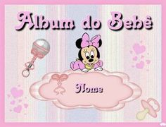 Minnie Bebé: Album de Fotos para Imprimir Gratis. Minnie Mouse, Oh My Fiesta, Flower Vases, Free Printables, Disney Characters, Cute, Party, Template, Scrapbooking