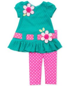 Rare Editions Little Girls' Teal Textured Knit Top & Bright Pink Dot Leggings Set The clothing culture is quite … Little Girl Fashion, Toddler Fashion, Toddler Outfits, Fashion Kids, Kids Outfits, Baby Girl Dress Patterns, Baby Dress Design, Little Girl Dresses, Baby Dresses