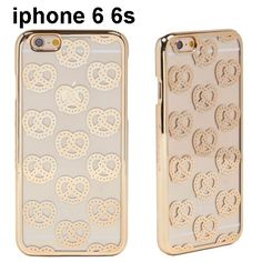 skinnydip スキニーディップ ロンドン ゴールド プレッツェル IPHONE 6 6S GOLD PRETZEL CASE アイフォン シックス ケース 可愛い 型 きらきら きゅーと かわいいけーす iphone6 iphone6s iphone6scase スキニー 新作 保護フィルム セット 海外 ブランド