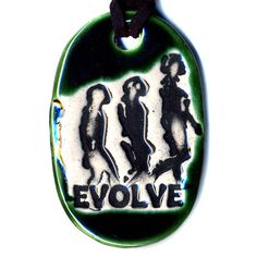 Evolve Ceramic Necklace in Green by surly on Etsy, $18.00