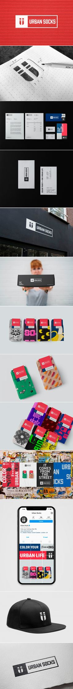 Urban Socks // Brand Identity on Behance