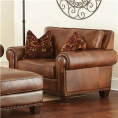 Silverado Traditional Chair and a Half with Nailhead Trim by 3985 at Becker Furniture World