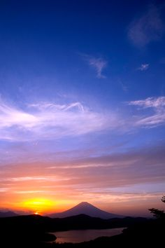 Sunet Mt.Fuji Japan