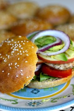 Healthy homemade hamburger buns