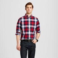 Men's Plaid Long Sleeve Button Down Shirt - Merona