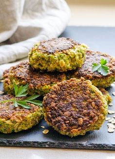 Savory Oatmeal Cakes are perfect for a meal or appetizer and a great way to use up summer produce. // @ifoodreal