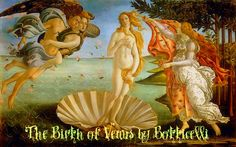 Florence - Botticelli's painting in the Uffizi Gallery.