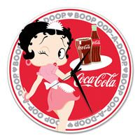 Waitress Betty Boop Coke Clock