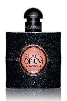 Black Opium by Yves Saint Laurent  An intoxicating gourmand fragrance, Black Opium combines coffee, pear, jasmine, pink pepper and orange blossom with a base of patchouli, vanilla and cedar. Undeniably feminine.