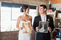 Such a good idea! Hold up photos of your parents getting married