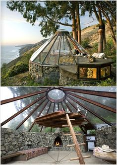 Domed Glass House - would be a great little place to get away to.