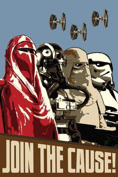 Star Wars fan art on canvas http://www.bluehorizonprints.com.au/canvas-art/star-wars-art/Together-Star-Wars-poster/ #starwars