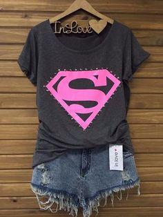 Tee Shirt Super Girl