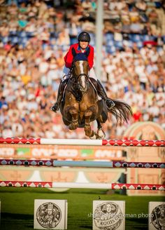 Photo by Shannon Brinkman Reed Kessler and Cylana's clear round in the second round of the Mercedes Nations Cup helped the U.S. team to second.  | The Chronicle of the Horse