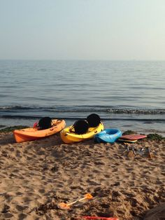 Perfect afternoon Kayaking on exmouth beach, Devon, UK