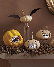 Fanged Pumpkins - Martha Stewart Crafting