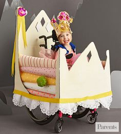The perfect costume for any princess in a wheelchair, stroller, or wagon! (via…
