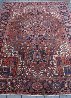 8'5x11'5 Antique Heriz Rug by BEHomeCo on Etsy