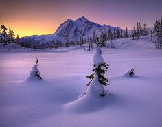 North Cascades National Park, Mt Shuksan in Winter ---I wish it was this cold here now