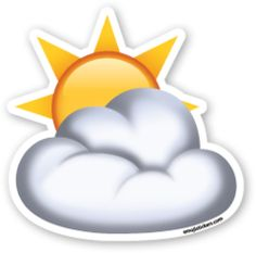 Sun Behind Cloud | Emoji Stickers