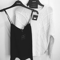 topshop cami and sweater