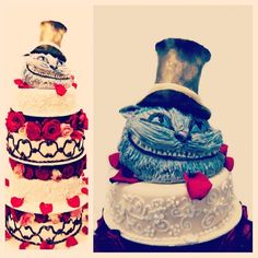 Unbelievable Cheshire #cat cake created by our extremely talented  #Pastry #Chef Zhanna. #hotel#food#dlicious #Instagram