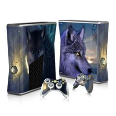 Wolf Face Xbox 360 Skin for console and 2 controllers. Choose your favorite design from huge range collection for xbox 360 skins.