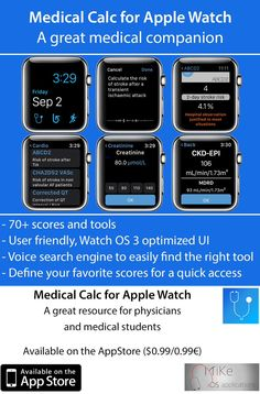 I'm looking for betatesters for the upcoming version of the app! If you're interested send me a message. #medical #meded #AppleWatch #Physician