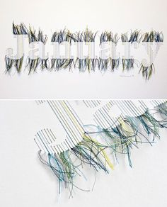 Stitched Illustrations by Peter Crawley.   Yellowtrace — Interior Design, Architecture, Art, Photography, Lifestyle & Design Culture Blog.