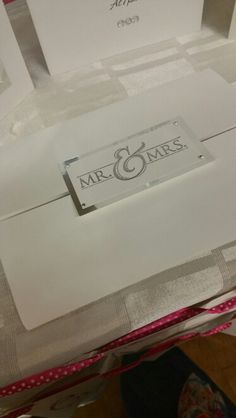 Mr & Mrs Wedding Invite