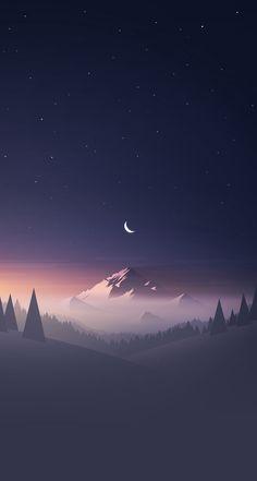 Mountain Stars Moon IPhone Wallpaper - Best iPhone Wallpaper