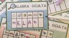 Conciencia fonológica encuentra la palabra oculta Speech Language Therapy, Speech And Language, Speech Therapy, English Time, Syllable, Literacy, Spanish, Homeschool, Teaching