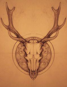 deer_skull_by_namisis-d51mwm2.png (784×1019)