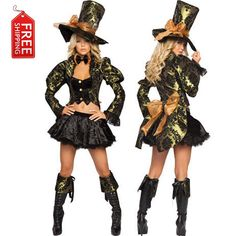 mad hatter costume women adult alice in wonderland costume adult party cosplay halloween costumes for women dress