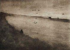 The Beach at Scheveningen - Jan Mankes 1915-1916. Dutch 1889-1920 Coll. Rijksprentenkabinet, Amsterdam