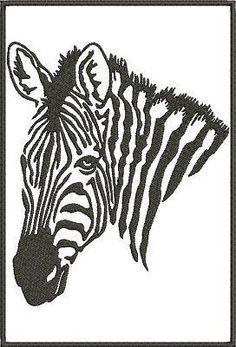5x7 Zebra Stencils