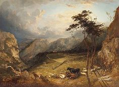 Pyne, James Baker (1800-1870) and Thomas Sidney Cooper - 1849 An Extensive Mountainous Landscape with Cattle and Sheep (Private Collection)
