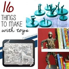 {Toy Hacks}  SO many things you can create with old toys.