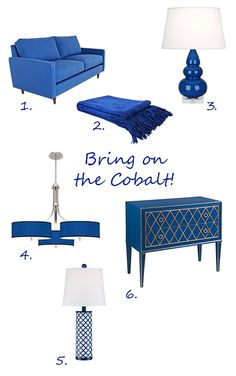 A Round-Up of Cobalt Blue Lighting and Furnishings from Lamps Plus