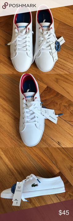 Lacoste sneakers boy size 5, for women size 6,5 This is Lacoste sneakers for boy size 5, but I'm girl with size 6.5 and it fit perfect. Marcel ADV SPJ SYN WHT sneakers Lacoste Shoes Sneakers