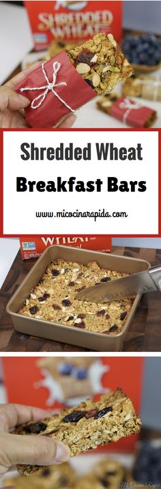 Start your day off right with these delicious Cereal Breakfast Bars that are packed with Post® Shredded Wheat, dried fruits, peanut butter, chia seeds, almonds and agave nectar. Yummy and healthy! Recipe step by step: http://bit.ly/2hPQdg3 😋😋😋 Grab a coupon here --> https://ooh.li/ccbbcca #ad #spoonfulsofgoodness